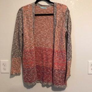Maurices multi colored cardigan sweater.
